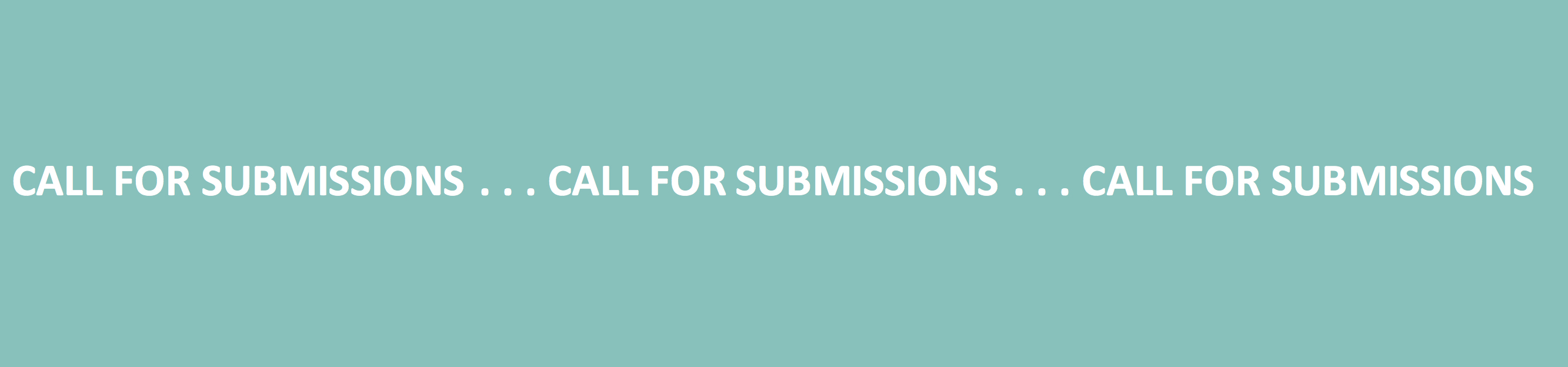 banner call for submissions